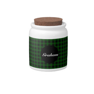 Clan Graham Tartan Candy Jar