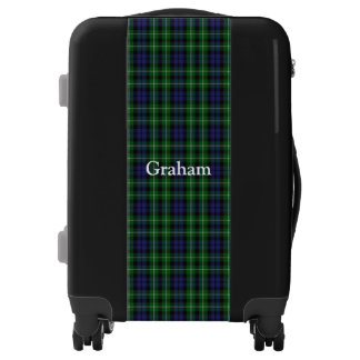 Clan Graham Tartan Customize Your Name Luggage