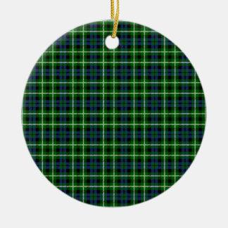 Clan Graham Tartan Double-Sided Ceramic Round Christmas Ornament