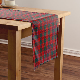 Clan Grant Red, Green, and Blue Scottish Tartan Short Table Runner