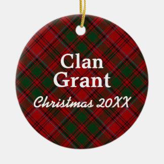 Clan Grant Scottish Tartan Ceramic Ornament