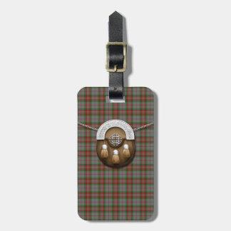 Clan Gray Tartan And Sporran Bag Tag