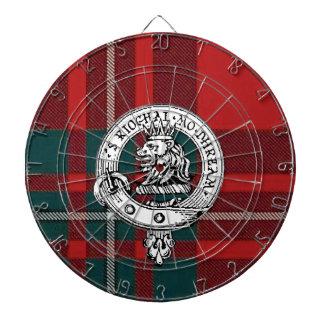 Clan Gregor / MacGregor Badge Dart Board Tartan