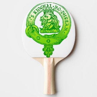 Clan Gregor / MacGRegor Badge Ping Pong Pad Green Ping Pong Paddle