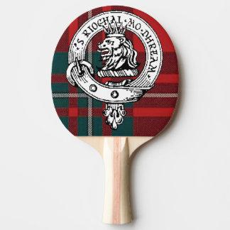 Clan Gregor / MacGRegor Badge Ping Pong Pad Tartan Ping-Pong Paddle