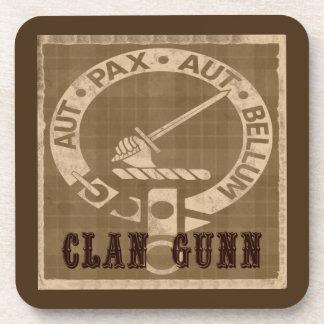 Clan Gunn Crest Badge - Sepia Coasters