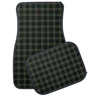 Clan Gunn Dark Green and Black Scottish Tartan Car Mat