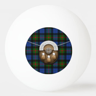 Clan Gunn Tartan And Sporran Ping-Pong Ball