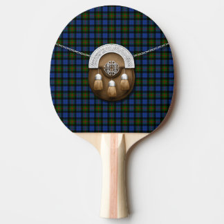 Clan Gunn Tartan And Sporran Ping Pong Paddle