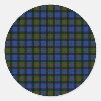 Clan Gunn Tartan Classic Round Sticker