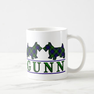 Clan Gunn Tartan Scottish Scottie Dogs Coffee Mug
