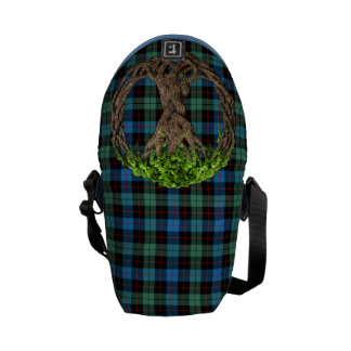 Clan Guthrie Tartan And Celtic Tree Of Life Courier Bags