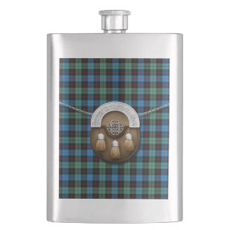 Clan Guthrie Tartan And Sporran Hip Flask