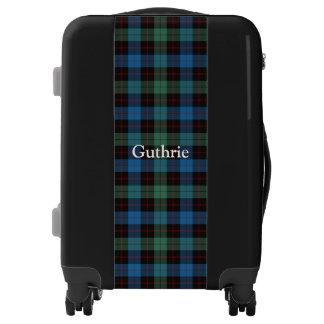 Clan Guthrie Tartan Customize Your Name Luggage