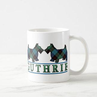 Clan Guthrie Tartan Scottish Scottie Dogs Coffee Mug