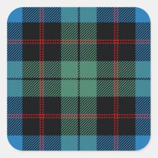 Clan Guthrie Tartan Square Sticker
