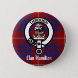 Clan Hamilton Crest & Tartan Button