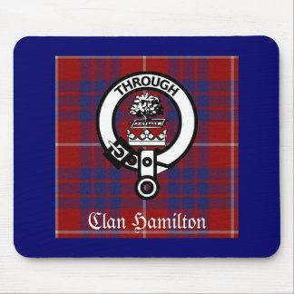 Clan Hamilton Crest & Tartan Mouse Pad
