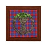 Clan Hamilton Tartan And Celtic Tree Of Life Keepsake Boxes