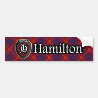 Clan Hamilton Tartan Bumper Sticker Car Bumper Sticker