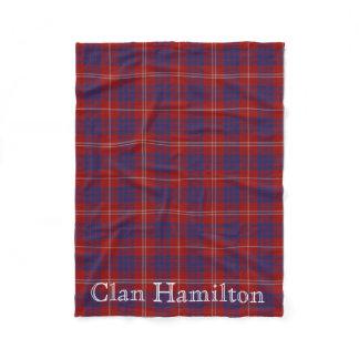 Clan Hamilton Tartan Fleece Blanket