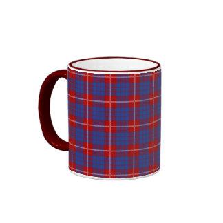 Clan Hamilton Tartan Ringer Coffee Mug