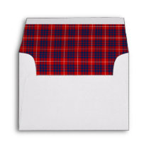 Clan Hamilton Tartan Red and Royal Blue Plaid Envelope