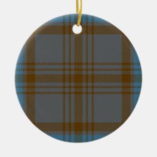 Clan Hannah Tartan Christmas Tree Ornament