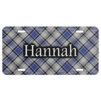 Clan Hannay Hannah Tartan License Plate