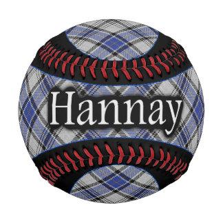 Clan Hannay Scottish Tartan Baseball