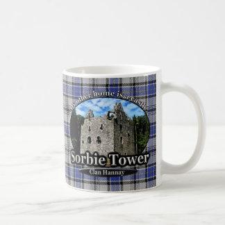 Clan Hannay Sorbie Tower Castle Tartan Classic White Coffee Mug