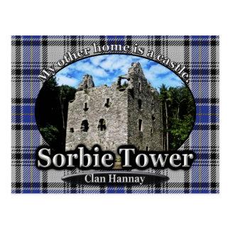 Clan Hannay Tartan Sorbie Tower Scotland Postcard