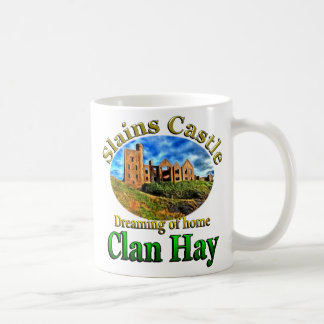 Clan Hay Dreaming of Home Slains Castle Coffee Mug