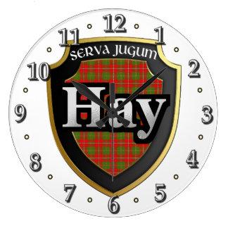 Clan Hay Tartan Scottish Dream Clock