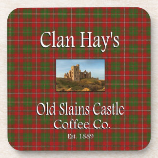 Clan Hay's Old Slains Castle Coffee Co. Drink Coaster