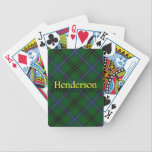 """Clan Henderson Scottish Tartan Bicycle Playing Cards<br><div class=""""desc"""">Play cards with this handsome deck.</div>"""