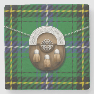 Clan Henderson Tartan And Sporran Stone Coaster