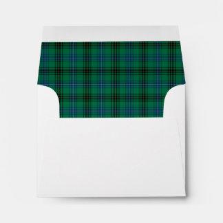 Clan Henderson Tartan Bright Green and Blue Plaid Envelope