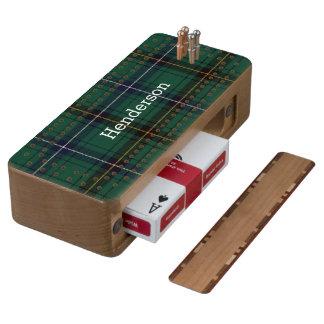Clan Henderson Tartan Plaid Cribbage Board