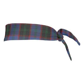 Clan Home Scottish Accents Blue Green Black Tartan Tie Headband
