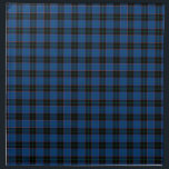 "Clan Hume Royal Blue and Black Scottish Tartan Napkin<br><div class=""desc"">Cloth napkins with a royal blue,  black,  orange,  and green Scottish tartan. Traditional Clan Hume family plaid pattern from 1842. Choose from dinner or cocktail napkins. Matching tablecloth and table runner available.</div>"