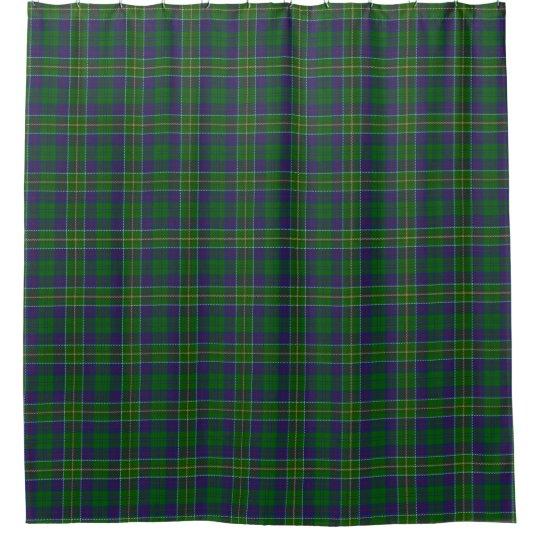 Clan Hunter Scottish Tartan Shower Curtain