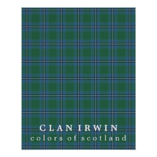 Clan Irwin Colors of Scotland Tartan Poster