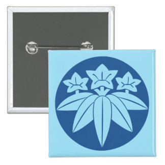 Clan japonés de Kamakura Minamoto lunes en azul