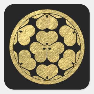 Clan japonés del samurai de Chosokabe lunes Pegatina Cuadrada