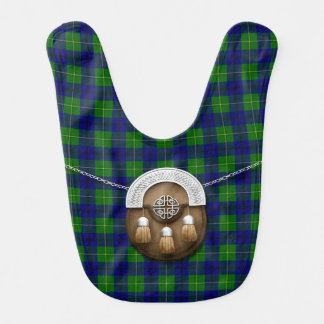 Clan Johnston Tartan And Sporran Bibs