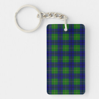 Clan Johnston Tartan Double-Sided Rectangular Acrylic Keychain