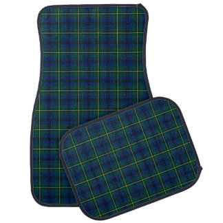 Clan Johnstone Blue and Green Scottish Tartan Car Mat
