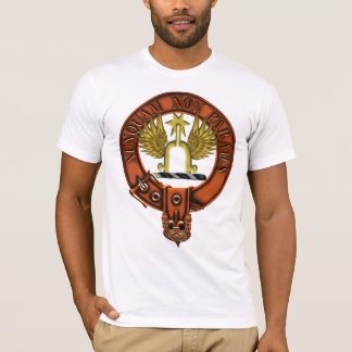 Clan Johnstone Family Crest and Targe T-Shirt