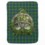 Clan Jones Tartan Celtic Trinity Receiving Blanket